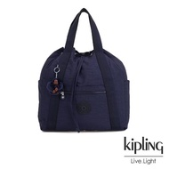 【KIPLING】復古歐風墨水藍兩用側背後背包-大-ART BACKPACK M