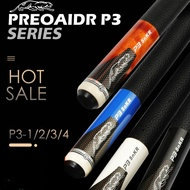 PREOAIDR 3142 P3 Billiard Pool Cue Stick/Kit  with Pool Cue 13mm 11.5mm 10mm Tips Black White Blue Orange Colors China