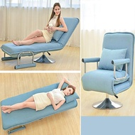 辦公室可折疊沙發床兩用單人午休椅多功能家用午睡床布藝折疊躺椅YTL
