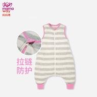 mamaway媽媽喂兒童睡袋防踢被智能調溫幼童四季嬰兒通用空調房