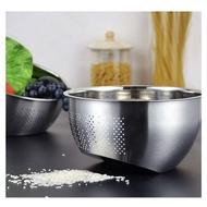 不鏽鋼洗米洗菜瀝水盆 洗米盆 菜盆 水盆 打蛋盆 水果盆