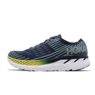 Hoka One One 慢跑鞋 Clifton 5 Knit 黑 藍 男鞋 HO1094309BISB 【ACS】