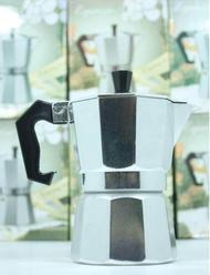 กาต้มกาแฟสดเครื่องชงกาแฟสด Moka Pot แบบปิคนิคพกพา ใช้ทำกาแฟสดทานได้ทุกที ขนาด 3 Cup 150 ml
