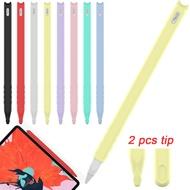 สำหรับApple Pencil iPad Proซิลิโคนแฟชั่นกรณีฝาครอบNibแขนTip Holderป้องกันกระเป๋าพร้อม 2 เคล็ดลับ