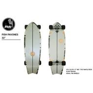 "SURF SKATE พร้อมส่ง Slide Surfskate FISH PAVONES 32"" ความยาว 32 นิ้ว/ ล้อ 65mm"
