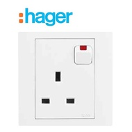 ~🔥🔥🔥Promo New Shop🔥🔥🔥~HAGER STYLEA 13A SWITCH SOCKET SIRIM APPROVED ORIGINAL~READY STOCK~