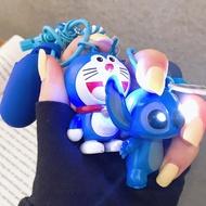 Airpods保護套 發光吊飾 叮噹貓 史迪仔 史迪奇 手機掛飾 防摔防丟防塵 airpods 一二代通用