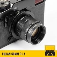 Fujian 50 mm f1.4 ✨ สำหรับกล้อง Canon EOS M Mirrorless ( เลนส์หลังละลาย ) ( โบเก้หมุนวน ) ( เลนส์มือหมุน ) ( เลนส์ หน้าชัดหลังเบลอ ) ( สำหรับ กล้อง แคนนอน ) ( เมาท์ EOS M ) ( EOS M Mount ) ( 50mm 1.4 ) ( Geekster )