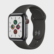 APPLE Watch Series 5 GPS+Cellular (40mm, Space Black Stainless Steel Case, Black Sport Band)