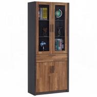 雷恩2.7尺雙色中抽書櫃/H&D東稻家居-消費滿3千送點數10%