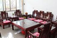 紅木十件組 客廳組 戰國組 如意組 古董家具 鑲貝 嶔貝 二手家具