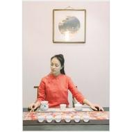 【紅芳庭】日本和風 桌旗 / 精緻 茶席 桌巾 茶席 茶道 居家生活 茶壺 茶具 泡茶用具