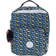 Kipling AVA K14853 中款 滿版眼睛印花尼龍後背包(夜藍色) 1830306-34