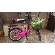 【二手單車】二手腳踏車二手童車20吋童車(附購物籃、輔助輪)單速自行車(特價出清)