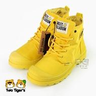 【限量】法國 Palladium SMILEY聯名 微笑款 黃色 雨傘布 防水 童靴 中童鞋 NO.R4185