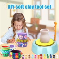 Electric DIY Ceramic Crafts Set Clay Pottery Wheel Craft Kit for Kids Educational Toy for Children