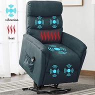 Electric Power Lift Recliner Chair, BONZY HOME Remote Control Recliner Chair with Massage Heat and Vibration for Elderly, Blue