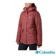 【Columbia 哥倫比亞】女款-Omni-Tech 兩件式OT防水鋁點保暖外套-紅色(UWR01890RD / 保暖.防水.休閒)