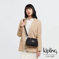 【KIPLING】低調沉穩黑平口收納小包-ALZINA