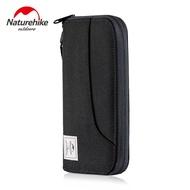 N aturehike RFID ปิดกั้นกระเป๋าสตางค์เงินสดหนังสือเดินทางบัตรเครดิตตั๋วกระเป๋าหลายใช้กระเป๋าเดินทางที่มีคอเชือกผ้ากันน้ำ YKK ซิป NH18X020-B