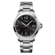 LONGINES 浪琴錶 L37264566 征服者系列 VHP超精準石英萬年曆腕錶/黑面43mm