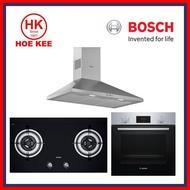 (Pre-Order) Bosch Bundle 4: Hood, Hob and Oven (DWP96BC50B, PBD7231SG and HBF114BR0K)