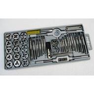 【大也】40件組合套絲(攻螺絲牙)工具 絲錐板牙套裝 專攻螺紋 超硬度螺紋精確