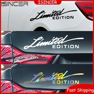 Car Reflective Sticker Limited Edition Creative Motorcycle Decals Auto Vinyl Sticker Car-styling Decal