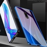 #雙面萬磁王OPPO Realme 3 Pro / X Lite 手機殼 鎂鋁合金框 鋼化玻璃殼