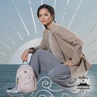 【KIPLING】Kipling X 永樂宮聯名系列粉色雲間盛境拉鍊式小巧收納後背包-DELIA MINI