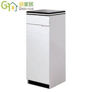 【綠家居】圖格 時尚白1.3尺單門雙面鞋櫃/玄關櫃