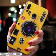 For Huawei Nova 3i Case Fashion Camera Pattern Soft TPU Silicone Back Cover for Huawei Nova 3i Phone Case