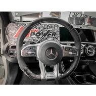 賓士19年後全車系 原車銀色按鈕專用 訂製 方向盤Nappa 碳纖維 麂皮 w205小改 w177 w118 w248