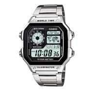 【CASIO】卡西歐不鏽鋼運動錶AE-1200WHD-1A AE-1200WHD宏崑時計台灣卡西歐保固一年