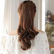 假髮 假髮馬尾女中長髮長捲髮大波浪氣質抓夾綁帶式逼真假馬尾辮假髮片