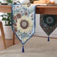 地中海桌旗桌巾蓋巾歐式田園茶幾桌旗餐墊桌墊餐桌桌旗桌墊