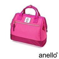 anello 輕便型波士頓 兩用手提斜背包  粉紅拼接 L
