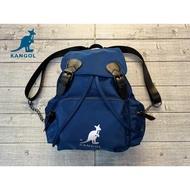 塞爾提克~免運 英國 袋鼠 KANGOL 水桶包款 帆布 後背包(藍色)實品質感很棒喔!送保溫杯