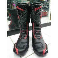 德芯騎士部品屋  EXUSTAR E-SBR2101 長筒 車靴 防摔靴 賽車靴 (黑紅)
