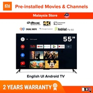 """[English UI] Global Version Original Xiaomi MI Smart TV 32"""" / 43 / 55 / 65 Inch 4K UHD HDR / HD Android TV Television Android 9.0 1GB/2GB + 8GB Built-In CHROMECAST + DTS/Dolby Audio 10W/20W speaker"""
