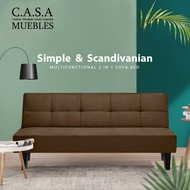 [Only Today!]CASA MUEBLES: OLLY 2 in 1 Foldable Sofa Bed 2 Seater or 3 Seater / Durable Canvas Sofa with 1 Year Warranty