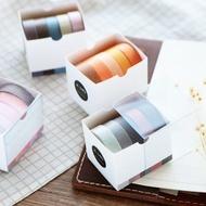 四季風情紙膠帶 裝飾貼紙 可寫字 DIY貼手賬紙 相冊 彩色膠帶