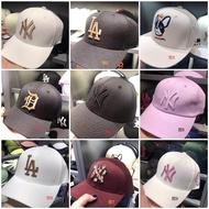韓國代購 MLB老帽 NY LA 刺繡 紐約 洋基 硬版 電繡 LOGO 棒球帽 道奇帽 可調式