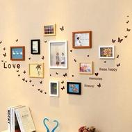 客廳臥室照片牆簡約掛牆相框創意組合兒童房相片牆夾子懸掛無痕釘