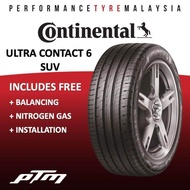 Continental Ultra Contact 6 UC6 SUV 15 16 17 18 19 INCH TYRE (FREE INSTALLATION) 205/70R15 215/65R16 215/60R17 225/55R18 225/65R17 235/65R17 225/60R17 225/60R18 235/60R18 255/55R18 225/55R19 235/55R19 265/50R20