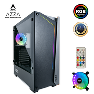 AZZA Mid Tower Tempered Glass ARGB Gaming Case APOLLO 430DF2 With RF Remote control - Black