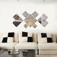 New Mirror Tiles Self Adhesive Tile Wall Floor  Decal Sticker
