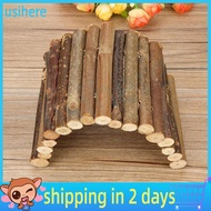 [READY STOCK] Hamster Bendy Wooden Bridge Ladder House for Reptile Mice Rodents Small Animal Chew Toy