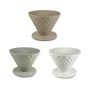 Driver窖作陶瓷濾杯咖啡濾杯2-4cup附1-2cup不鏽鋼濾紙-大廚師百貨