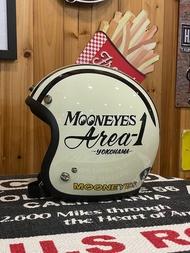 台灣限定2021年MOONEYES 4/3安全帽(奶白下標區)GALLOP聯名款